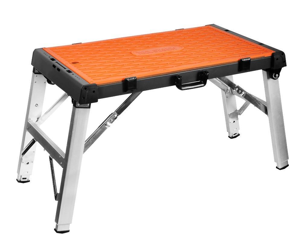 4 1 Çok Fonksiyonlu Iskele Için Alüminyum Katlanır Garaj Çalışma Tezgahı Platformu Creeper Taşıyıcı Ve El Kamyon