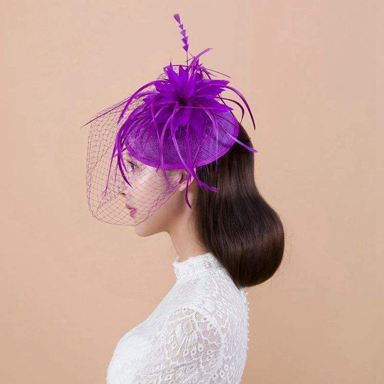 Forcelle Accessori Per <span class=keywords><strong>Capelli</strong></span> Queena Cappello <span class=keywords><strong>di</strong></span> Fascinator Chiesa Wedding Decorazione Dei <span class=keywords><strong>Capelli</strong></span>