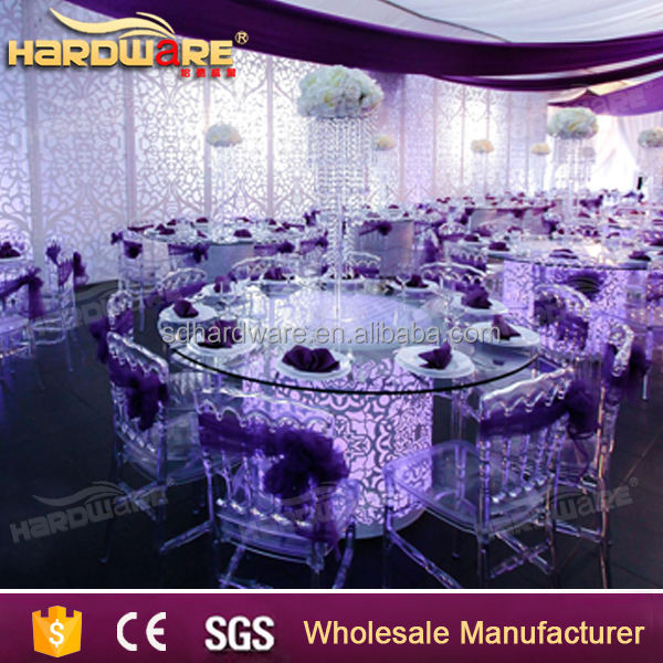 cheap luminous furniture round led wedding table
