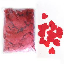 Boomwow hot selling wedding ceremony decorations red heart table tissue paper party confetti paper for confetti cannon