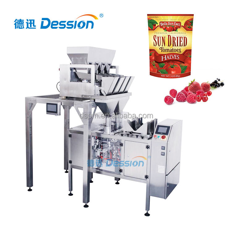 Zip Lock Doypack Bag Packing Machine For Fresh Fruit Or Vegetable