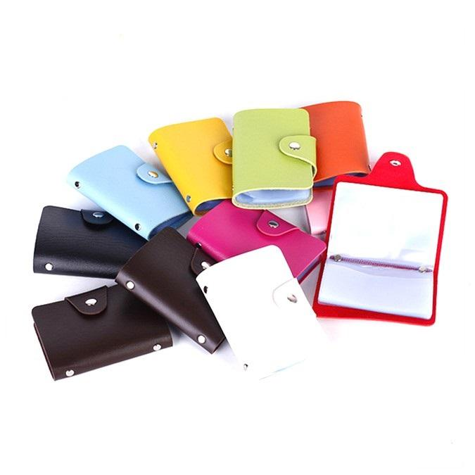 Original factory hot sale PU leather 24 cards wallet business id credit card holder