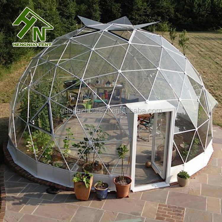 garden igloo tent supplier solar greenhouse transparent geodesic dome tent for outdoor camping