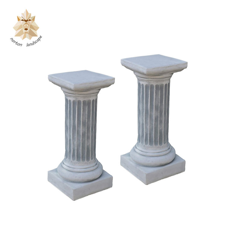 Modern factory price natural carving marble pillar wedding decoration garden stone column for sale