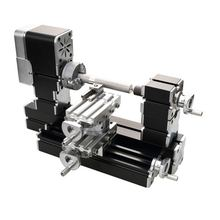 Latest  4-axis Rotary Miniature Lathe Big Power 60watt for hobbyist DIY model making, soft metal processing