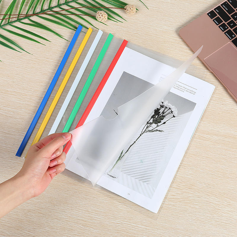 Wholesale promotional clear transparent A4 report cover folder with slide bar