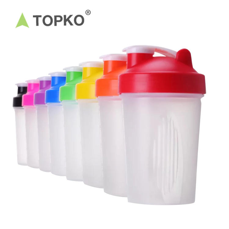 400ml fitness water bottle protein shaker bottle with mixer ball
