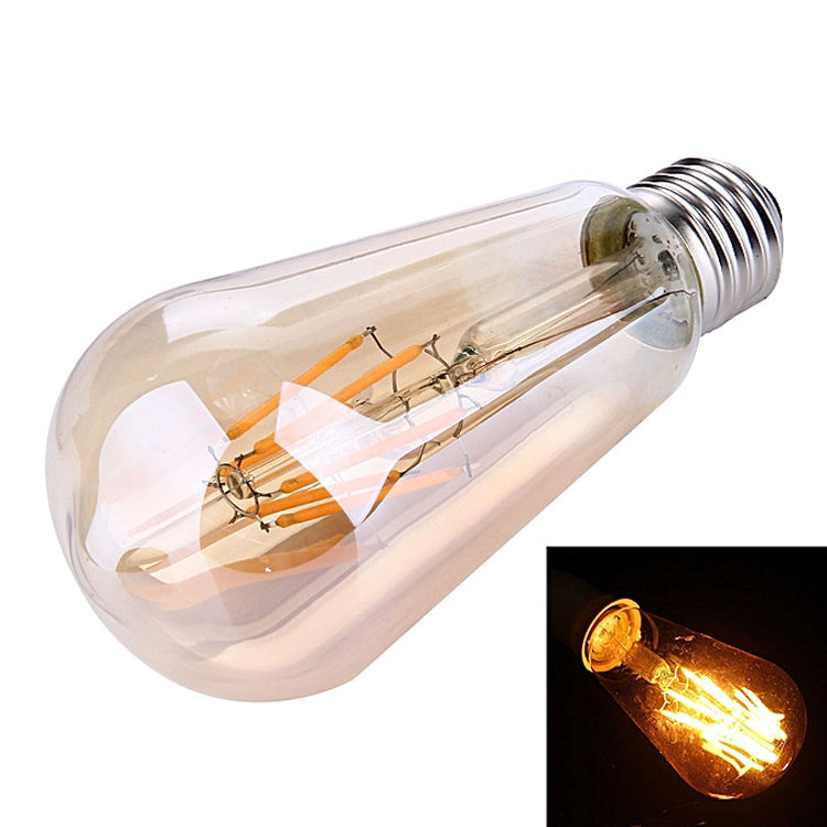 ST64 E27 <span class=keywords><strong>Antieke</strong></span> Dimbare Edison Vintage Led Filament Lampara Gloeilamp