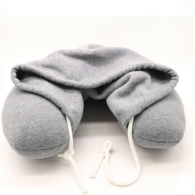 U shape hooded Suppliers neck pillow Travel Airplane hoodie U shaped pillow-Neck travel pillow
