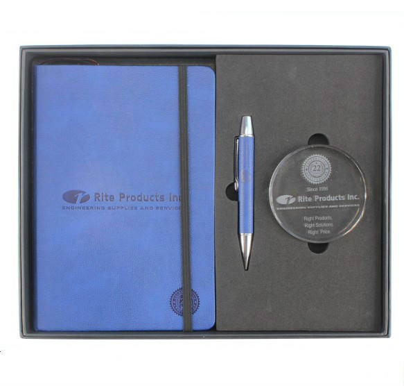 new arrival high-end 10 year business corporate anniversary gifts set