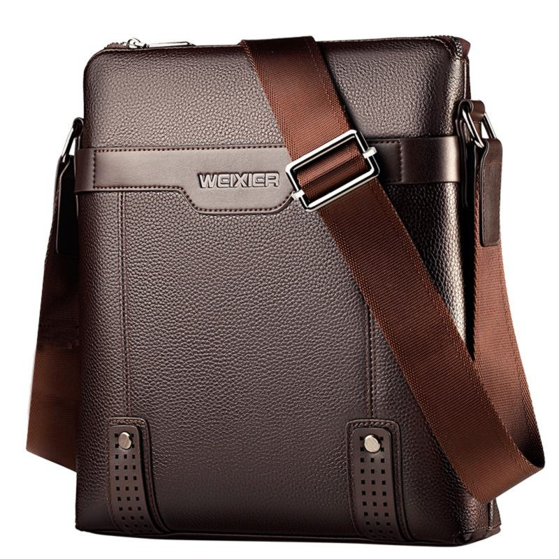 Mode Business Casual Mannen Sling Zakken Waterdichte Pu Lederen Schoudertas Crossbody Messenger Bag Voor Mannen