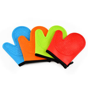 Food Grade Silicone Pot Holder Forno Mitt Set Luvas