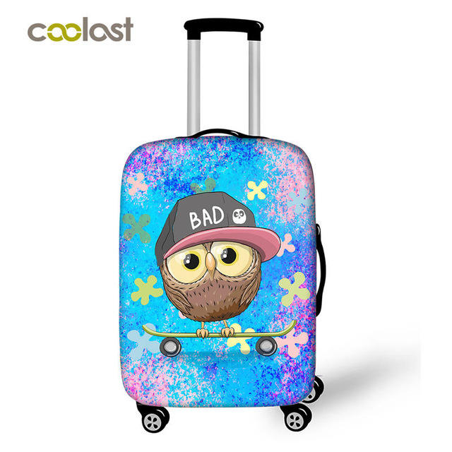 3D Birds On The Branch Print Luggage Protector Travel Luggage Cover Trolley Case Protective Cover Fits 18-32 Inch