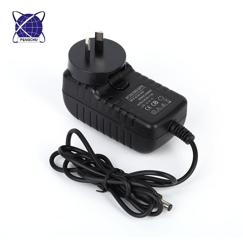 Power adapter 9v 100ma adapter with short circuit protection