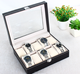 China High-grade European leather watch box Open the window watch bin Bracelet jewelry box