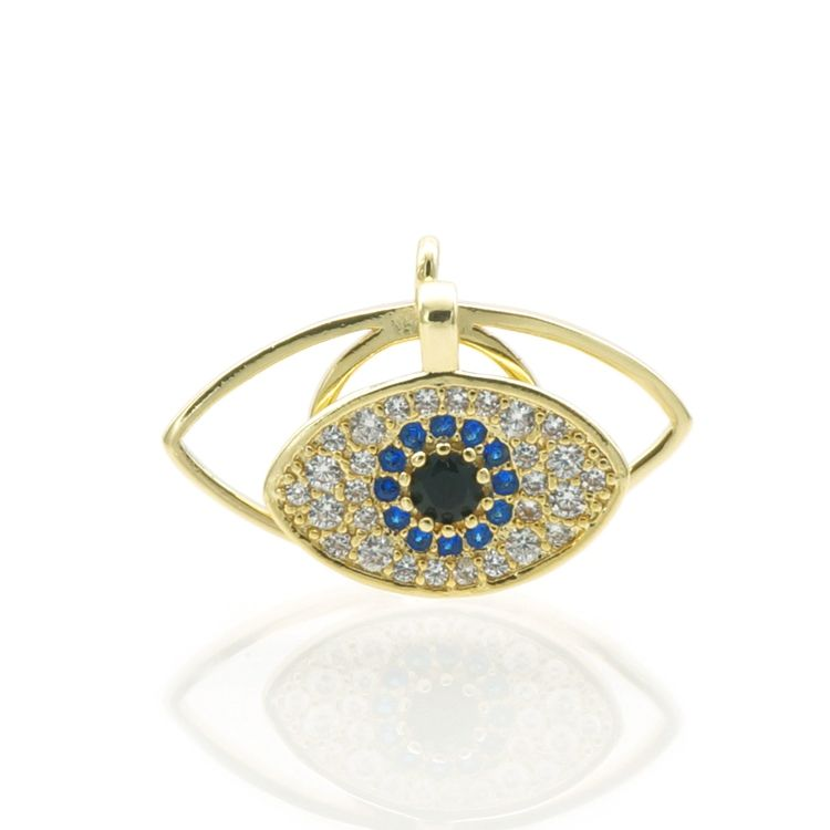 Evil Eye Pendant ,Blue Zircon Evil Eye Necklace,Turkey Gold Jewellery Designs