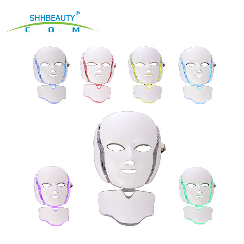 2020 latest 7 colour photon led skin rejuvenation led face mask Face Beauty Mask