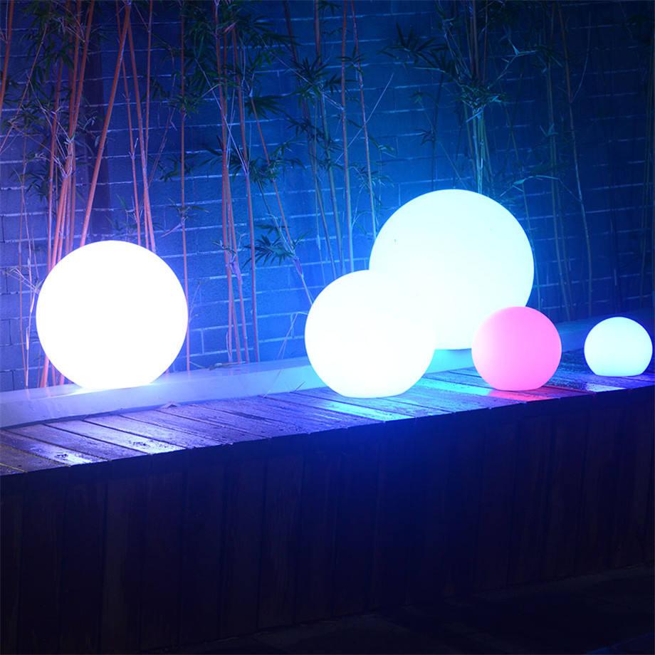solar decorative garden lights led ball display small or gient hang led ball
