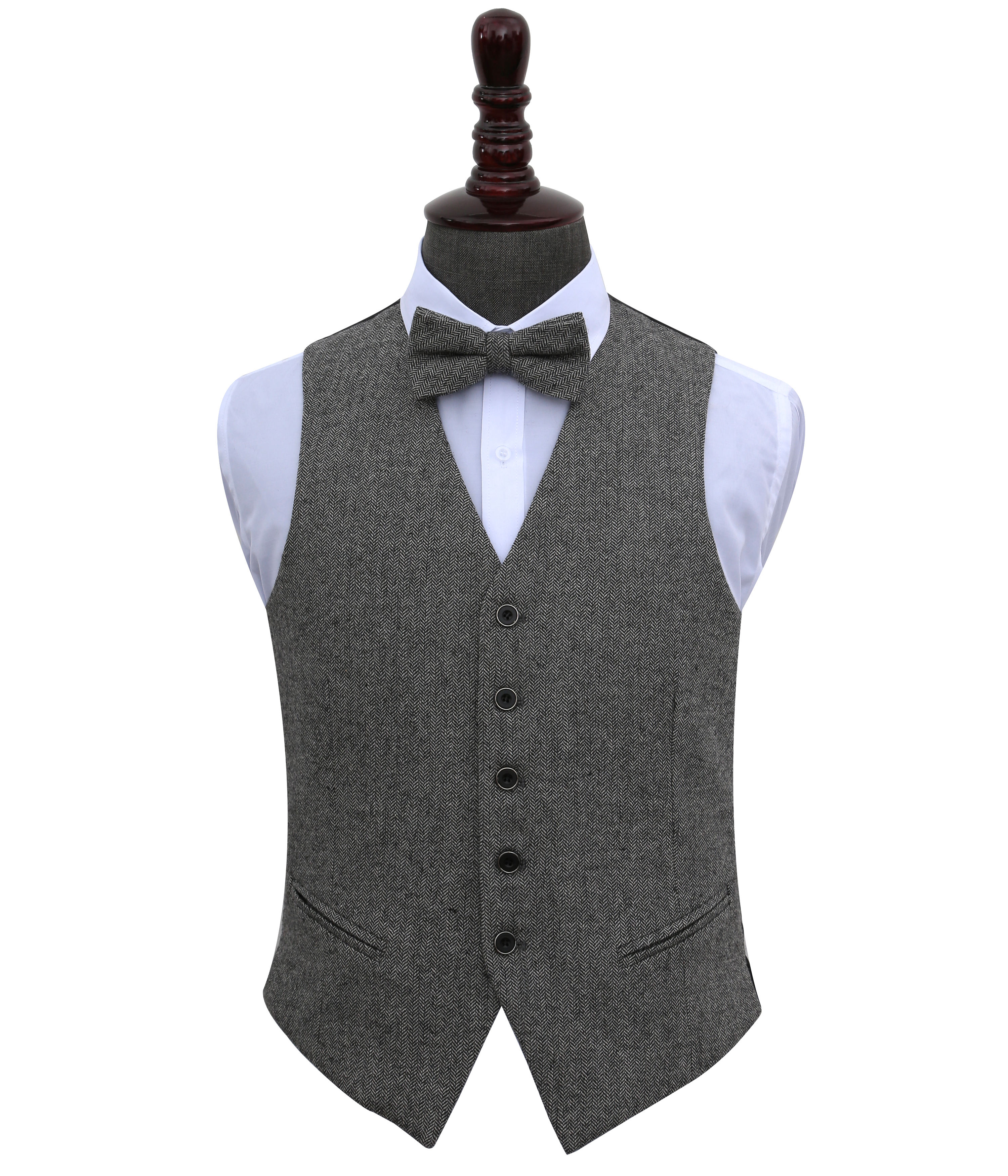 Newest Design Luxury Handsome High Quality Wool Grey Mens Formal waistcoat