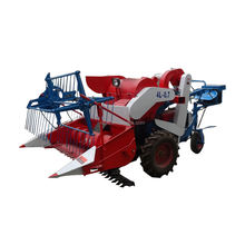 Farm Use High Quality Grain Cutting Machine Mini Wheel Type Combine Harvester