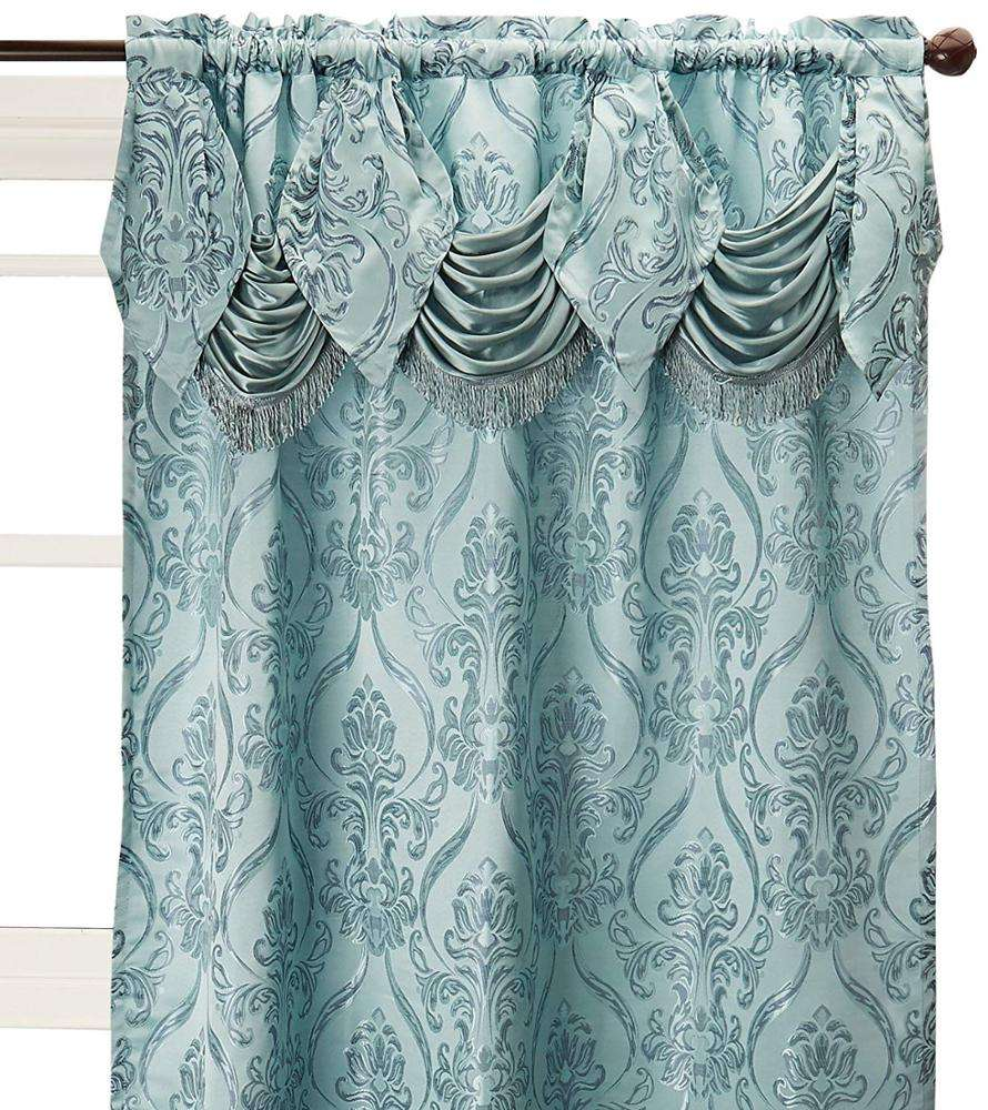 High Quality Ready Made Polyester Valance Jacquard Curtains Fabric India