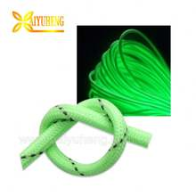 wholesale braided paracord Reflective glow in the dark nylon webbing string pull rope