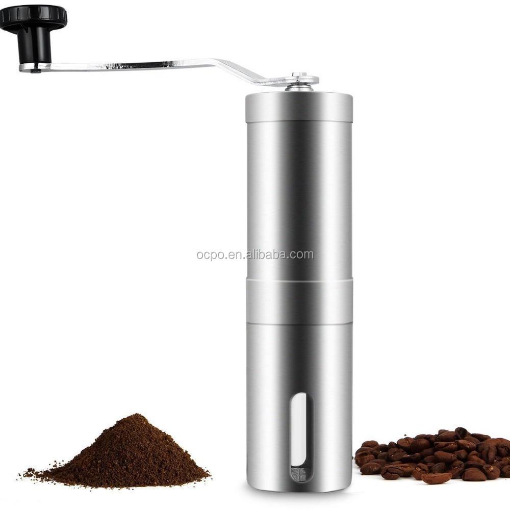 Best Selling Stainless Steel Manual Coffee Grinder , hand coffee grinder Conical Burr Hand Coffee Bean Grinder