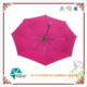 21 Inches 8 Panels Auto Open and close automatic Custom Logo Printed Pink 3 Folding Umbrella With Rubber Handle
