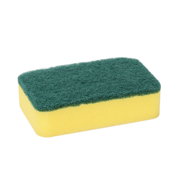 Various shapes kitchen cleaning of green sponge scouring pad