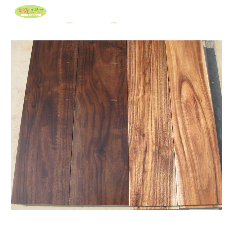 Home furniture Stained Acacia Hardwood & Solid Wood Flooring natrual Color Acacia solid wood Flooring