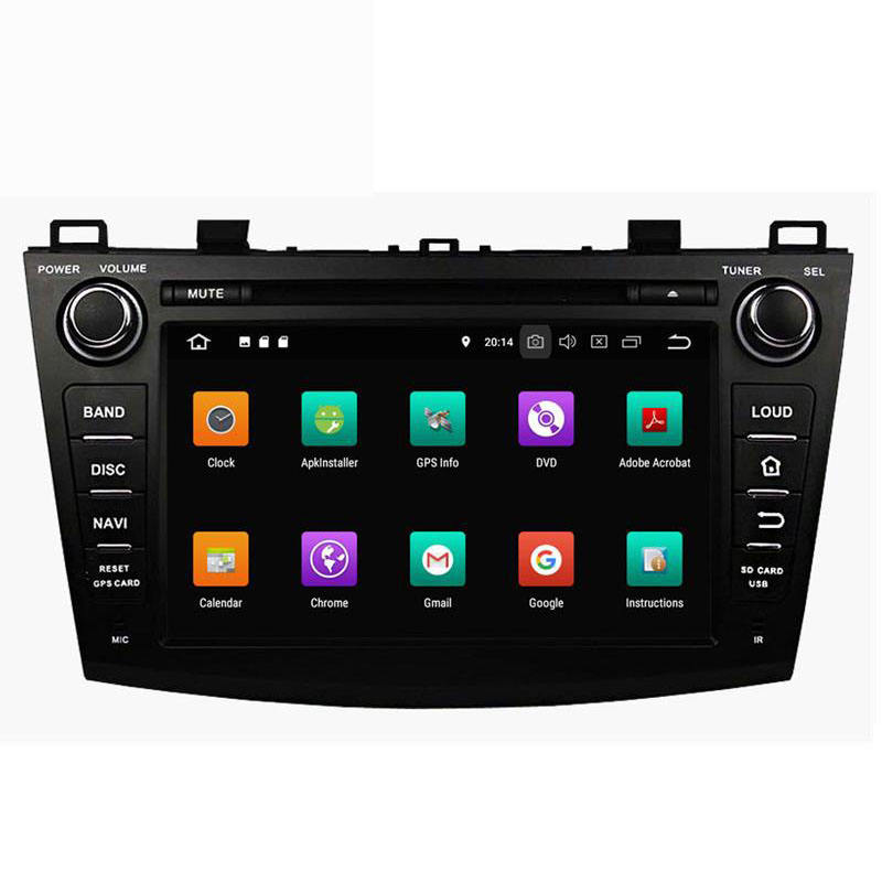 In dash di navigazione gps per auto android 8 per mazda 3 2009-2011 2012 radio multimedia car dvd player