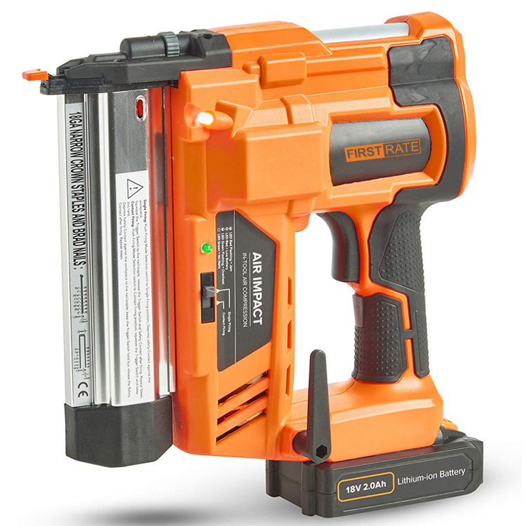 First Rate 18V Lithium Ion Battery 2 & 1 Cordless Brad Nailer and Staple Gun
