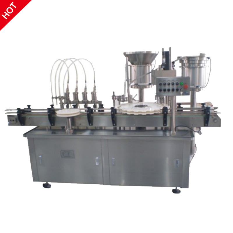 Glass Bottle Syrup Filling Capping Machine Line Pharmaceutical Filling Machine