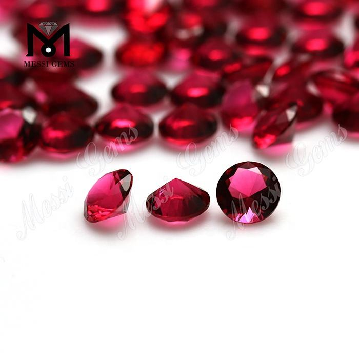 Loose Gemstones Round 6mm Red Color Faceted Glass Stones