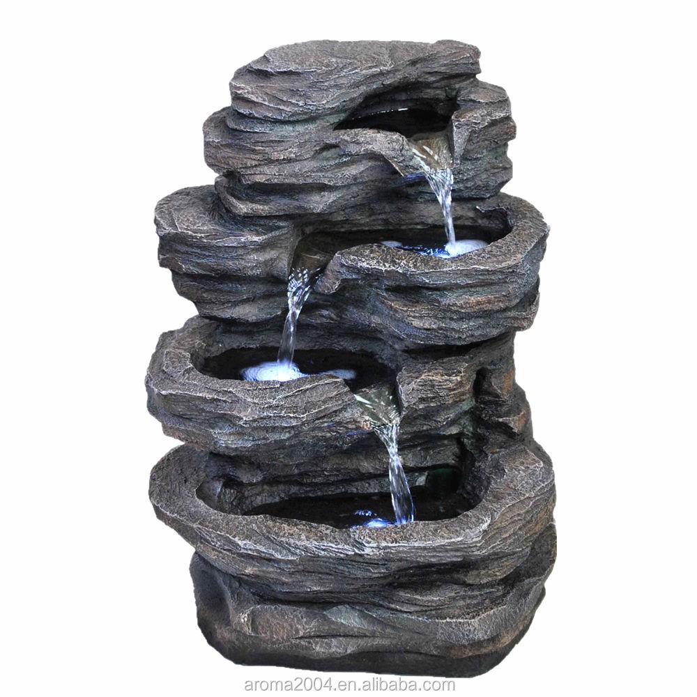 Indoor <span class=keywords><strong>fonte</strong></span> de água jardim ornamental resina natural cascata cascata de mesa