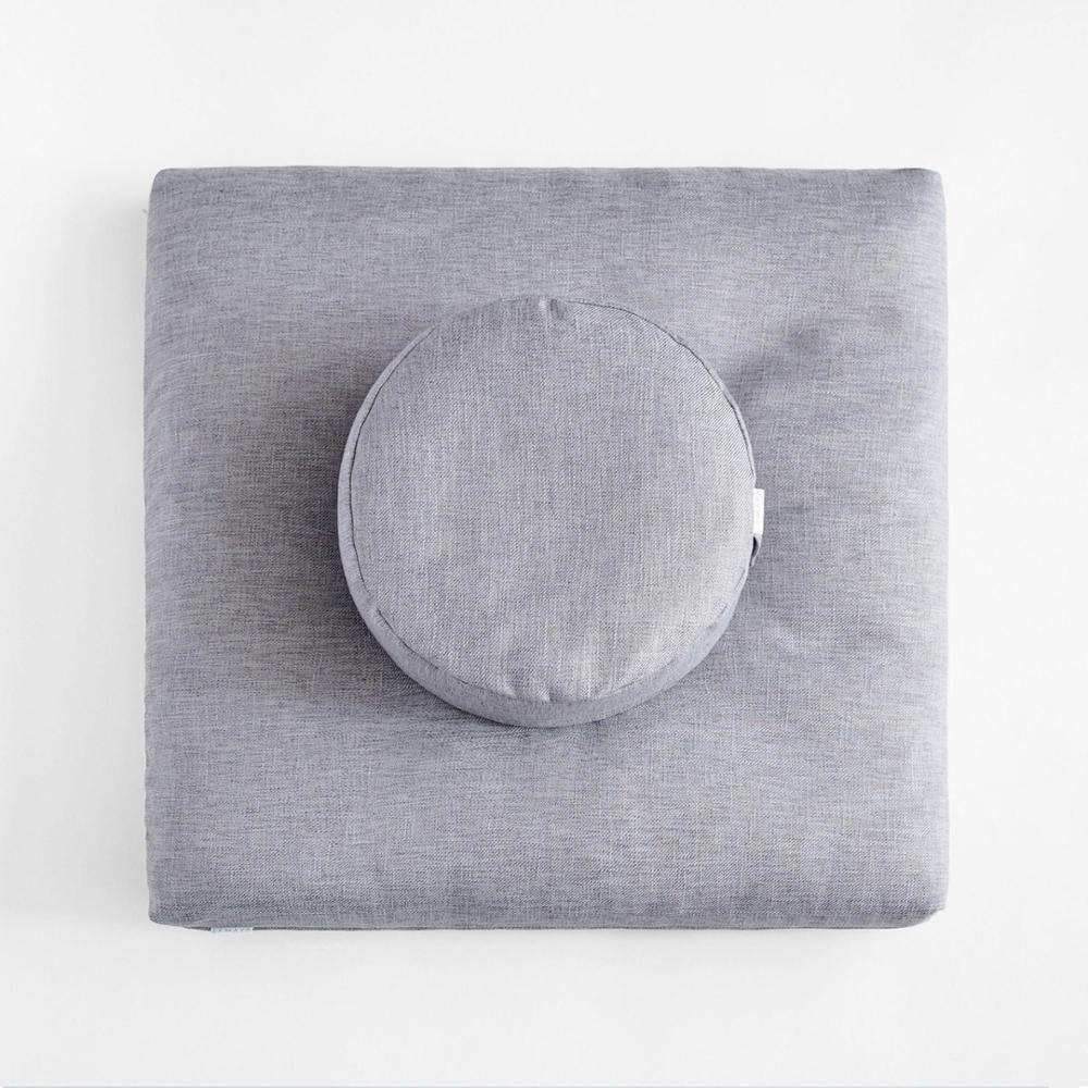 Factory direct Eco friendly Organic Velvet Buckwheat Removable Square Yoga Meditation Pillow and Yoga Meditation Cushion