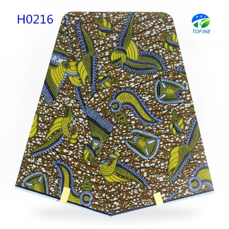 Wholesale tofine 6 yards african wax fabric 100% cotton holland wax made in china
