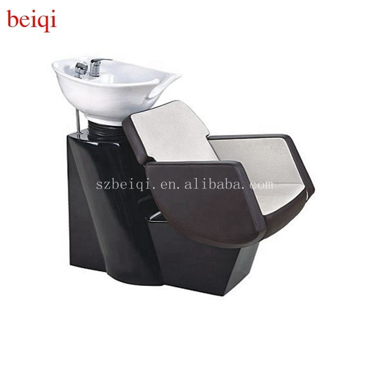 Modern luxury cheap hairdresser equipment hair salon shampoo bowl backwash