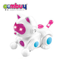Battery operated cheap wholesale electric animal toy robot cat