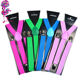 Wholesaler Adults Women and Men Fashion Adjustable Y-back Trousers Neon Suspenders For Party
