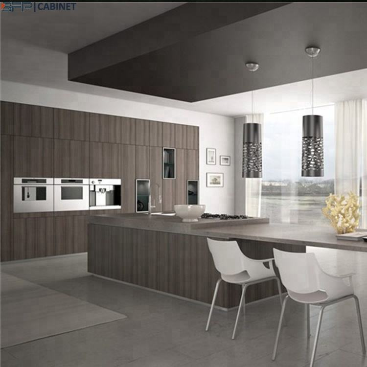 Luxury Home Design MDF Grey Cabinet Kitchen Modern