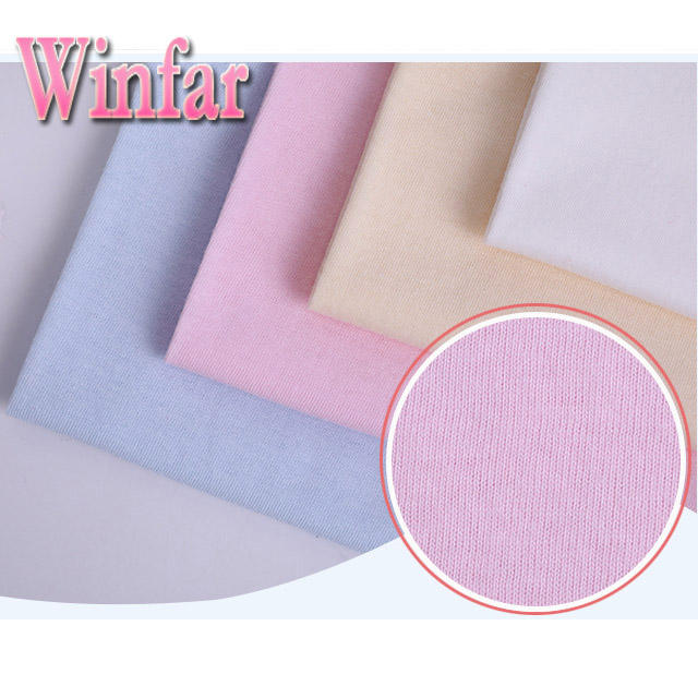 Single jersey dyed wholesale spandex jersey egyptian cotton knitted fabric for garment