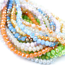 Free shipping wholesale good quality crystal glass rondelle prayer beads