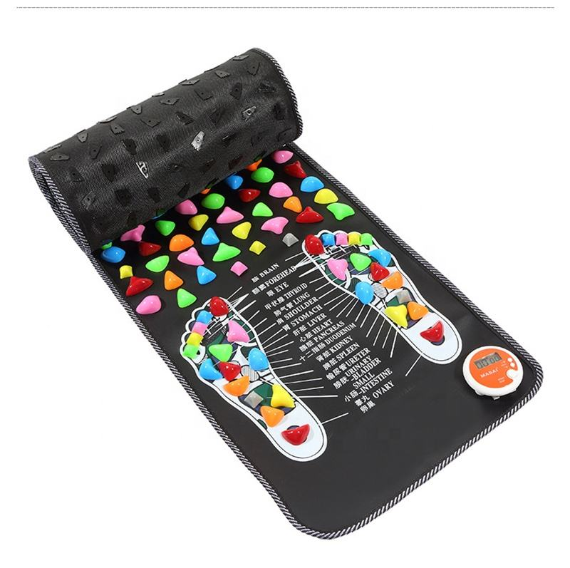 Acupressure Mat Pad Massager Reflexology Walk Stone Foot Leg Pain Relieve Relief Walk Massager Mat Health Care