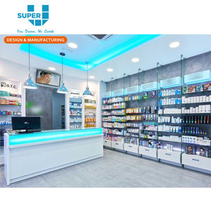 Modern Medical Store Furniture Design Pharmacy Display Fixture Solution Retail Medical Shop Display Furniture Design for Medical