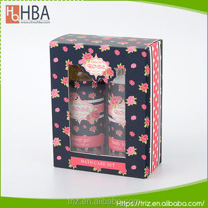 Wholesale spa gift set OEM brand name liquid bath moisturizing shower gel