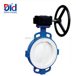 3 Inch Rubber Seal Viton Seat Stainless Steel Tomoe Lug Type Ptfe Lined Wafer Butterfly Valve Gearstainless steel