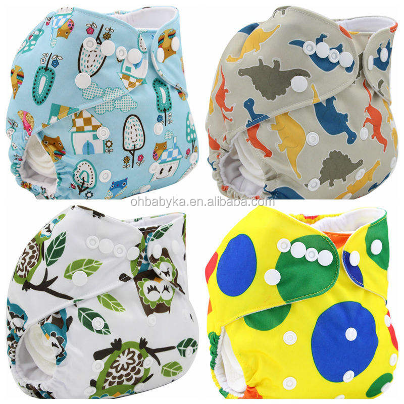 Ohbabyka brand washable baby cloth diaper/nappy diaper bamboo made in china