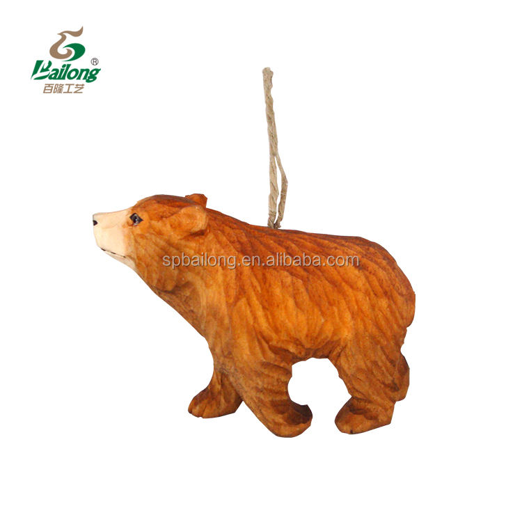 lovely home decoration wood carving 3D animal ornament