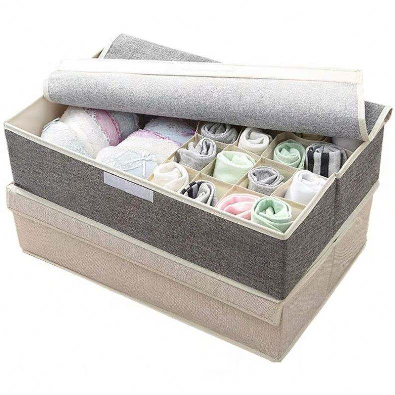 Perfume Foldable Fabric Storage Box White